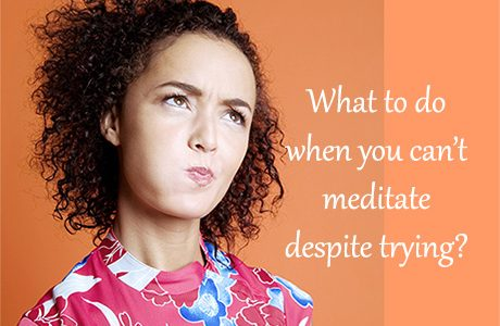 Frustration in Meditation Photo